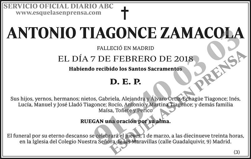 Antonio Tiagonce Zamacola